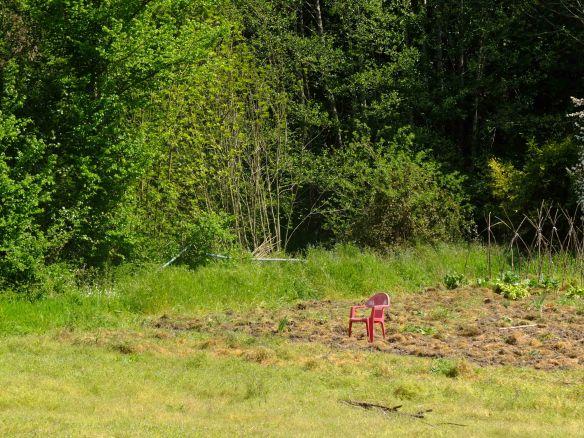 Seat in field