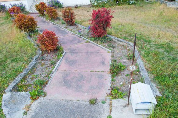 Post box on ground