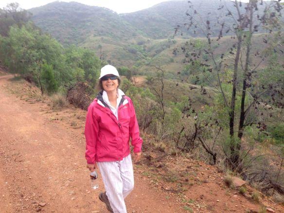 Jen walking Mt. Misery