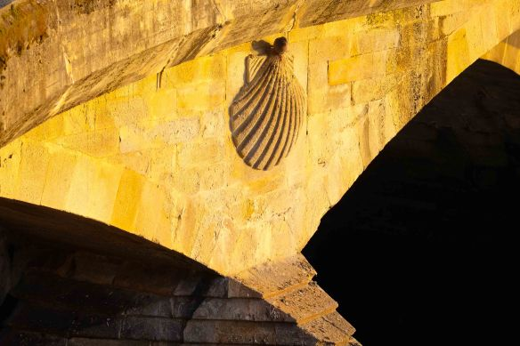 Bridge with scallop shell