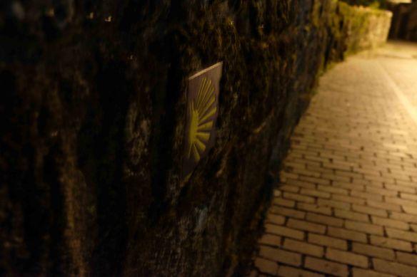 camino sign on laneway