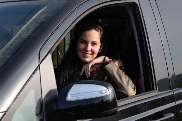 Caterina in van