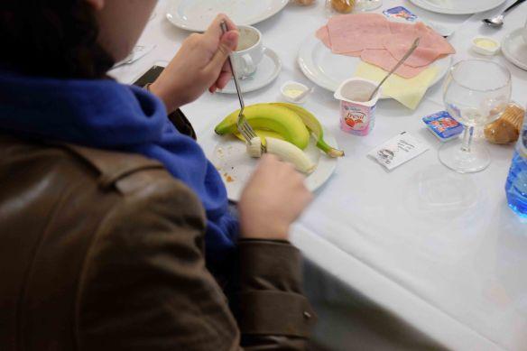 Caterina with banana.1
