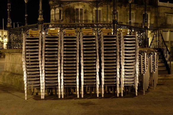 chairs stacked