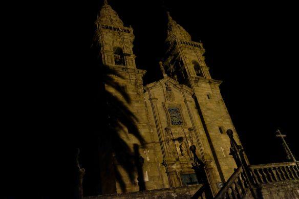 church in dark