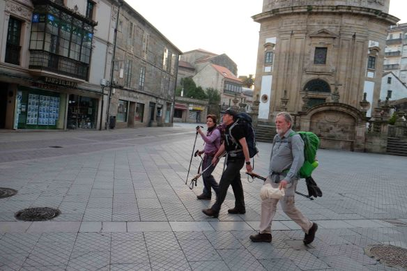 Julie, Peter and Greg in Pontevedra