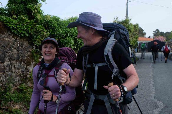 Julie & Peter leaving_