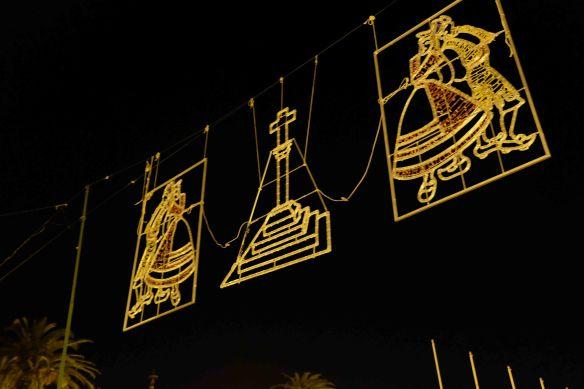 lights above street