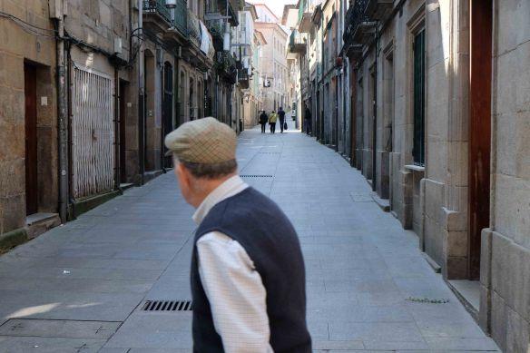 man in pontevedra street