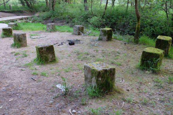 old sitting stones