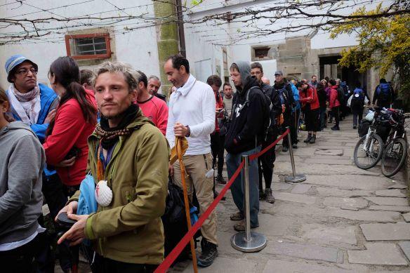 queue for compostelas