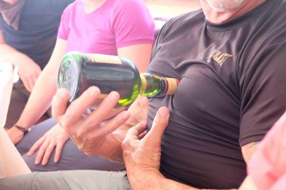 steve opening bottle