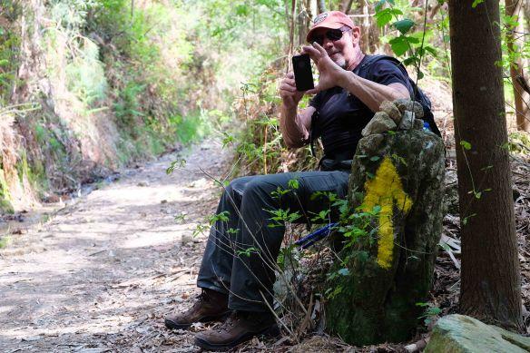Steve's taking photo