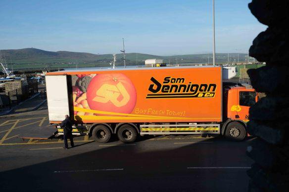 truck unloading Dingle