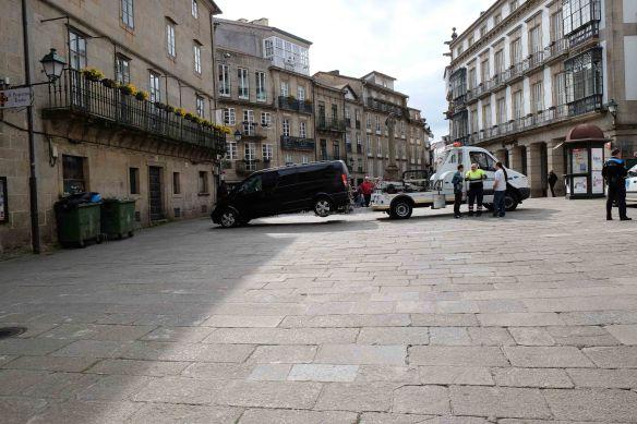 van being towed