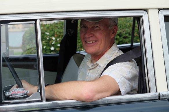 michael in car