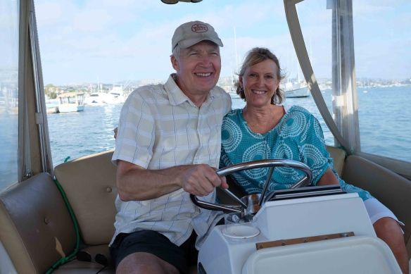 Michael & kathryn on boat
