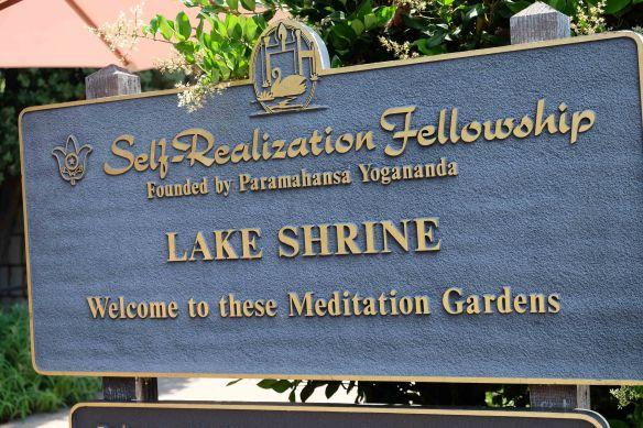 lake Shrine sign