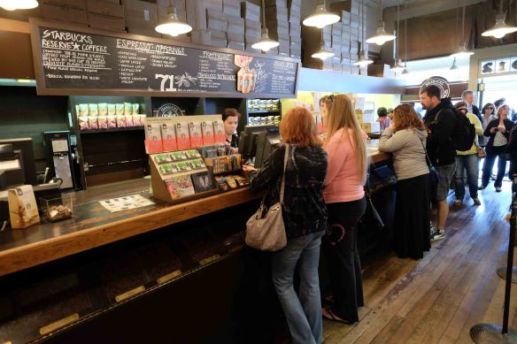 Line at Starbucks