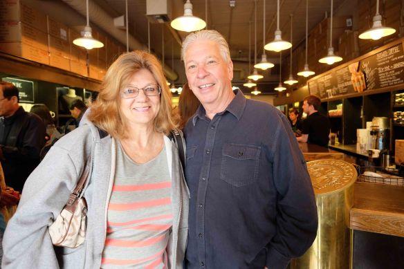 Lynda, Dale at Starbucks