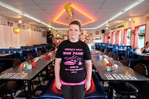 Tweeds - our waitress