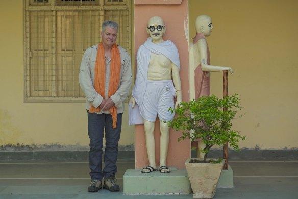bill with Ghandi