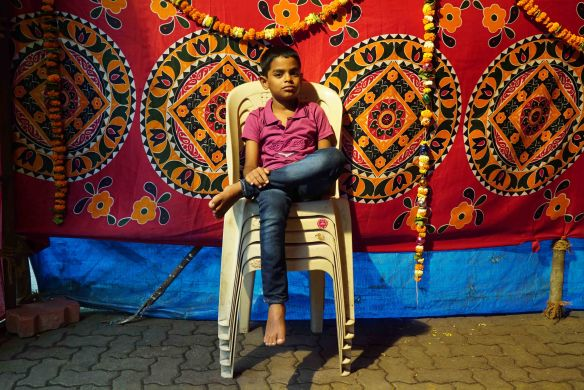 Boy on chairs