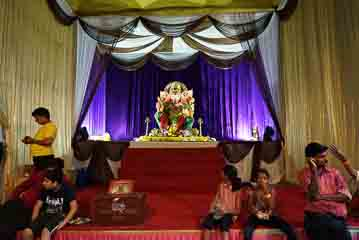 Ganesh getting ready