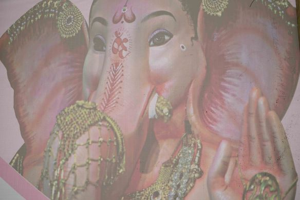 Ganesha through screen