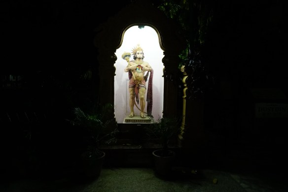 monkey god at night