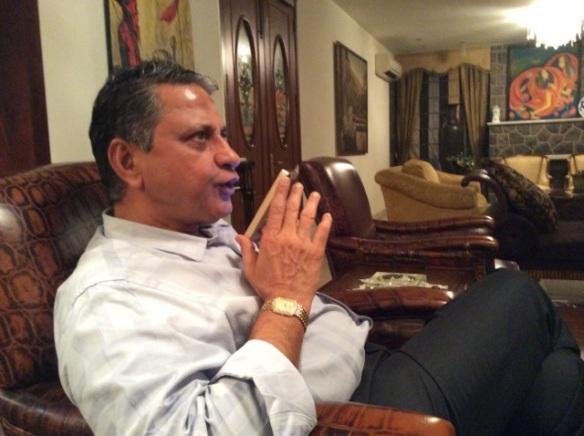 Pradeep talking to bikram