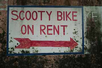 scooty bike rent