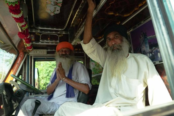 Sikhs in truck