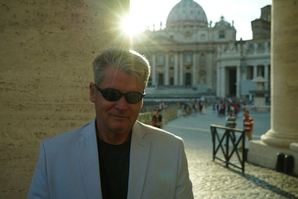 me at Vatican with glasses
