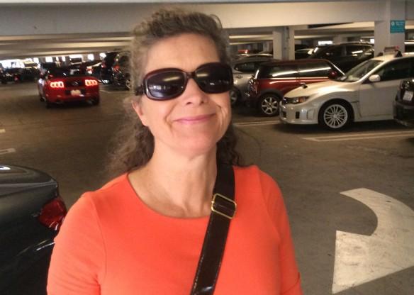 Jen in carpark