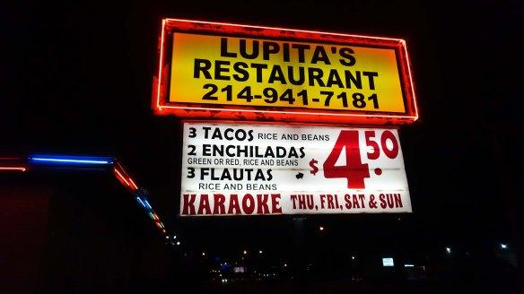 Lupitas ext sign