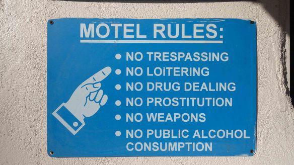 Motel rules
