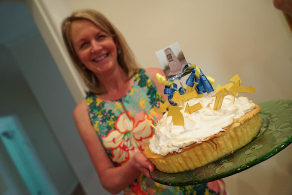 Narelle with pie