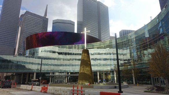 cross in city