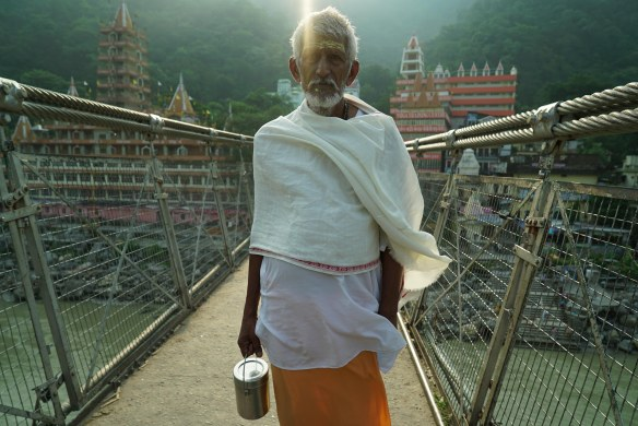 Sadhu on Rishikesh bridge