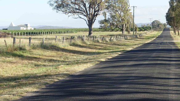 road past winery