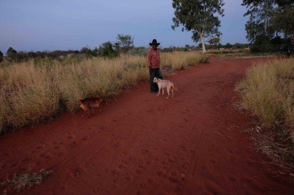 Cowboy with dog