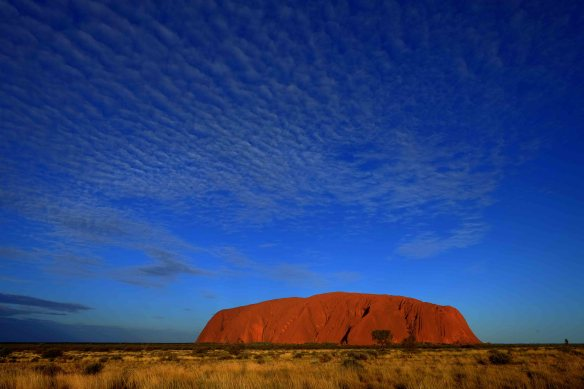 Uluru tourist shot