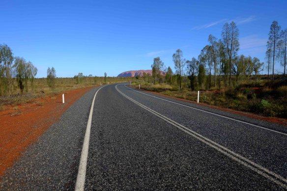 Uluru with road