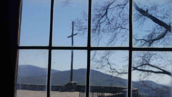 cross through window