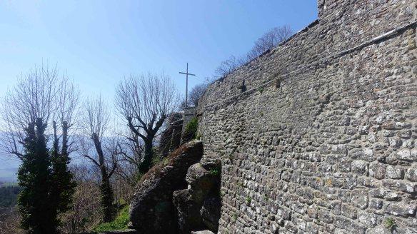 ext walls of la verna