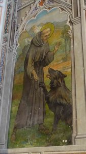St. Francis with the wolf