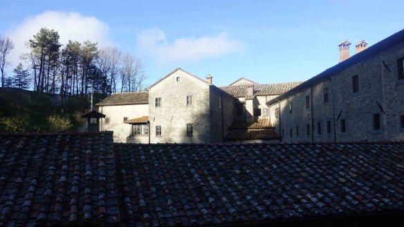sunsine over monastery