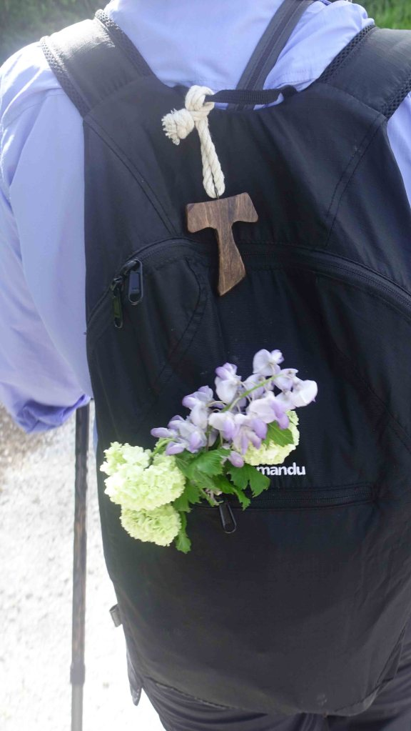Angie backpack with flowers