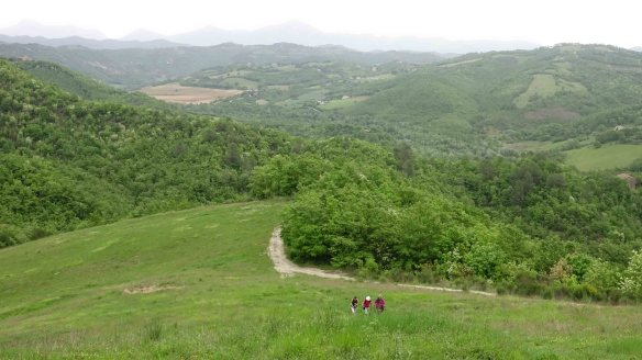 climbing mountain to Biscina